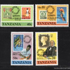 Sellos: TANZANIA 147/50** - AÑO 1980 - EXPOSICIÓN FILATÉLICA INTERNACIONAL LONDON 80. Lote 56288221