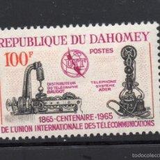 Sellos: DAHOMEY 222** - AÑO 1965 - CENTENARIO DE LA UNIÓN INTERNACIONAL DE TELECOMUNICACIONES. Lote 211441739