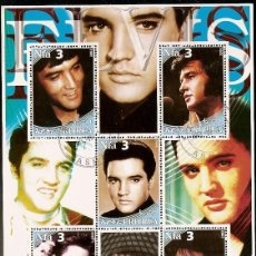 Sellos: ERITREIA & ESTRELAS DO ROCK, ELVIS PRIESLEY 2002 (1) . Lote 57077355
