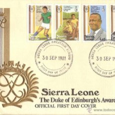 Sellos: 1981 SIERRA LEONE FIRST DAY COVER THE DUKE OF EDINBURGH'S AWARD. Lote 57183616