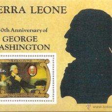 Sellos: SIERRA LEONE 1982 250TH BIRTH ANNIV. OF GEORGE WASHINGTON - NR. MICHEL: B10 . Lote 57183688