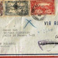 Sellos: SIERRA LEONA 1942 - CARTA VOLADA DE SIERRA LEONA A COLOMBIA. Lote 57650295