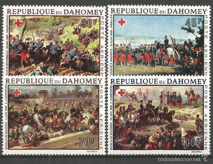 DAHOMEY CORREO AEREO EXCOLONIA FRANCESA YVERT NUM. 81/84 ** SERIE COMPLETA SIN FIJASELLOS (Sellos - Extranjero - África - Otros paises)