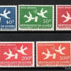 Sellos: GUINEA AEREO 4/8** - AÑO 1959 - CORREO AEREO - PALOMAS. Lote 57740732