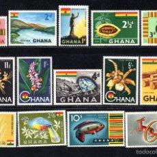Sellos: GHANA 41/53A** - AÑO 1959 - FAUNA, FLORA, MINERALES. Lote 58122033