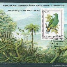 Stamps - Santo Tome y Principe. Año 1979. Hoja bloque usada. - 58228949