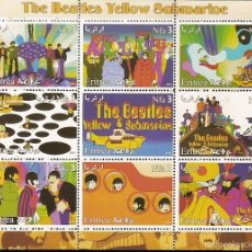 Sellos: ERITREIA ** & LEGENDAS DO ROCK, THE BEATLES 2003 (1). Lote 58473538