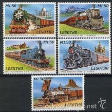 Sellos: LESOTHO 1996 IVERT 1205/9 *** TRENES DEL MUNDO (II) - LOCOMOTORAS. Lote 61273999