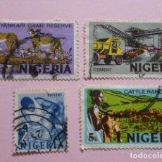 Sellos: LOTE 4 SELLOS NIGERIA, AÑOS 70.CIRCULADOS. Lote 61986112