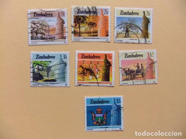 ZIMBABWE 1985 RIQUEZAS DEL PAIS (7SELLOS USADOS) YVERT Nº 95 / 99 + 103 / 104 º FU (Sellos - Extranjero - África - Otros paises)