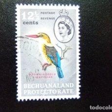 Sellos: BECHUANALAND 1961 MARTIN PÊCHEUR ELIZABETH II YVERT Nº 126 º FU. Lote 64103127