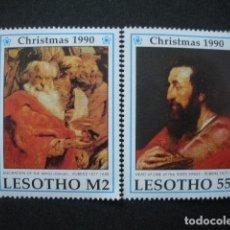 Sellos: LESOTHO 1990 IVERT 928/9 *** NAVIDAD - CUADROS DE RUBENS - PINTURA. Lote 66590354