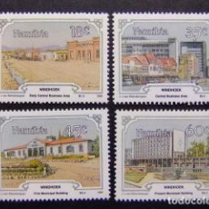 Sellos: NAMIBIA NAMIBIE 1990 WINDHOEK CAPITAL DE ESTADO YVERT 632 / 35 ** MNH. Lote 68947765