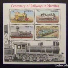 Sellos: NAMIBIA NAMIBIE 1995 CENTENAIRE DES CHEMINS DE FER A NAMIBIA YVERT BLOC 21 ** MNH. Lote 68950933