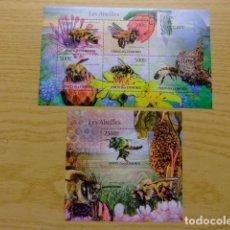 Sellos: COMORES 2011 FAUNA ABEJAS ABEILLES YVERT Nº 2215 / 19 + BLOC 311 ** MNH. Lote 69434437
