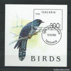 Sellos: TANZANIA, 1992, HOJA BLOQUE CUCO, YVERT B181. Lote 70001165