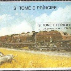 Sellos: SANTO TOME Y PRINCIPE, HOJITA 1989,NUEVA,GOMA ORIGINAL,SIN FIJASELLOS.. Lote 71857935