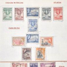 Sellos: LOTE 19 SELLOS COLONIAS BRITÁNICAS, COSTA DE ORO, SIERRA LEONA, UGANDA...USADOS.. Lote 72969059