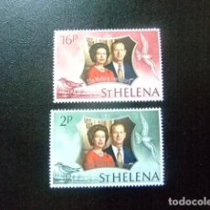 Sellos: SAINTE-HELENE ST HELENA 1972 NOCES D´ARGENT YVERT 257 / 58 **MNH SG 289 / 90 ** MNH. Lote 73608947
