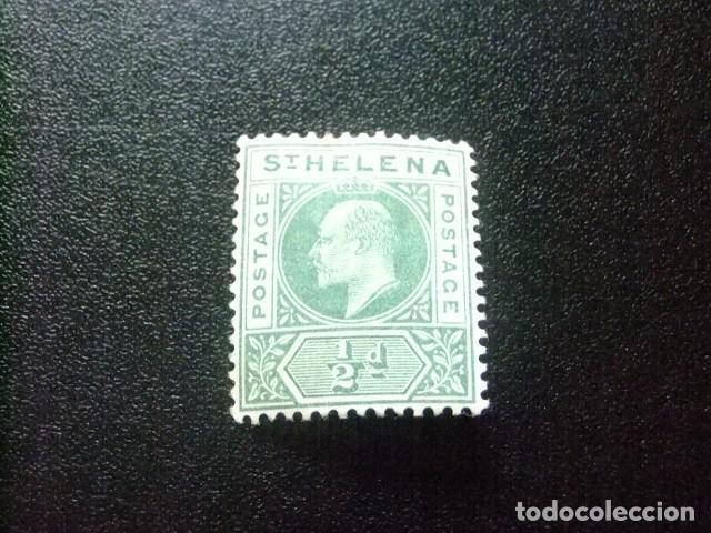 SAINTE-HELENE ST HELENA 1902 EDOUARD VII YVERT 27 (*) SIN GOMA (Sellos - Extranjero - África - Otros paises)