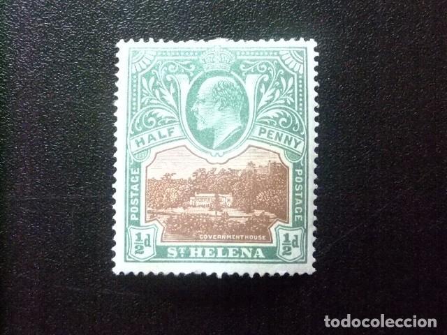 SAINTE-HELENE ST HELENA 1903 EDOUARD VII ET PAYSAGES YVERT 29 * MH (Sellos - Extranjero - África - Otros paises)