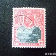 Sellos: SAINTE-HELENE ST HELENA 1903 EDOUARD VII ET PAYSAGES YVERT 30 º FU. Lote 73668787