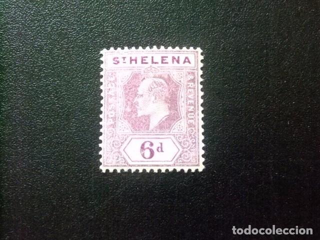 SAINTE-HELENE ST HELENA 1908 EDOUARD VII YVERT 37 * MH (Sellos - Extranjero - África - Otros paises)