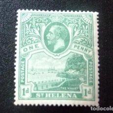Sellos: SAINTE-HELENE ST HELENA 1922 GEORGE V ET PAYSAGES YVERT 55 * MH. Lote 73672607