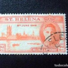 Sellos: SAINTE-HELENE ST HELENA 1946 ANNIVERSAIRE DE LA VICTOIRE GEORGE VI YVERT 110 º FU. Lote 73731151