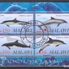 Sellos: MALAWI. HB 2010. DELFINES .*,MH (17-183). Lote 75336555