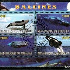 Sellos: REPUBLICA DE DJIBOUTI HB 2009. BALLENAS .*,MH (17-185). Lote 75339135