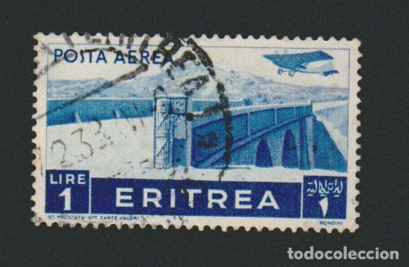 ERITREA.COLONIA ITALIANA.1933.-1 LIRA.YVERT 201.USADO. (Sellos - Extranjero - África - Otros paises)
