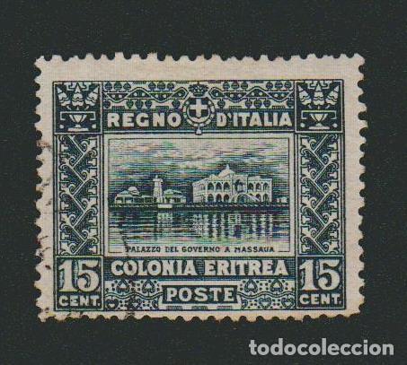 ERITREA.COLONIA ITALIANA.1910-16.-15 CENT.YVERT 39.USADO. (Sellos - Extranjero - África - Otros paises)