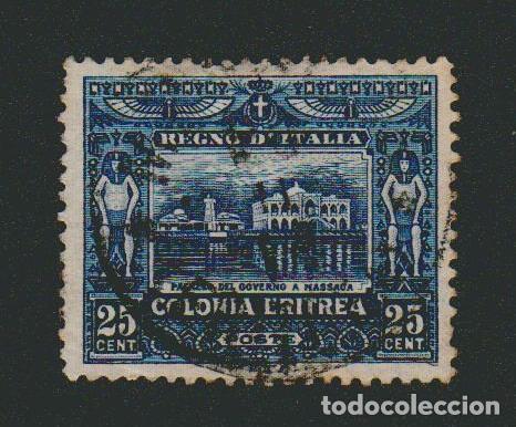 ERITREA.COLONIA ITALIANA.1910-16.-25 CENT.YVERT 40.USADO. (Sellos - Extranjero - África - Otros paises)