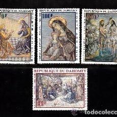 Sellos: DAHOMEY 1968 AEREO IVERT 93/6 *** PINTURA RELIGIOSA - OBRAS DE FOUJITA - ARTE. Lote 77019429