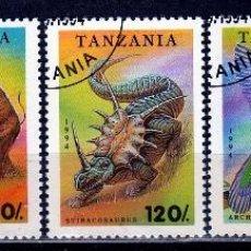 Sellos: REPUBLICA DE TANZANIA : TEMATICA DINOSAURIOS .1996. *.MH (17-481). Lote 77670797