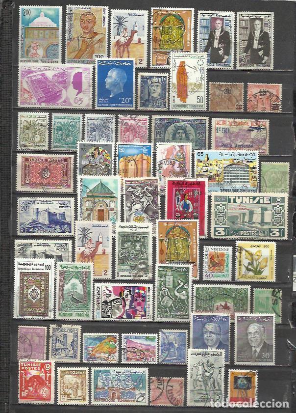 G143-LOTE SELLOS ANTIGUOS TUNEZ,ANTIGUA COLONIA FRANCESA,TERRITORIO DE FRANCIA,AFRICA,SIN TASAR,SIN (Sellos - Extranjero - África - Otros paises)