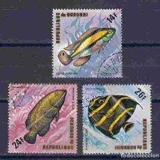 Sellos: PECES DE BURUNDI. SELLOS AÑO 1974. Lote 86607172