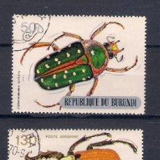 Sellos: INSECTOS DE BURUNDI. SELLOS AÑO 1970. Lote 87496932