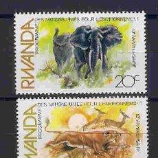Stamps - fauna salvaje de ruanda. sellos año 1982 - 87499420