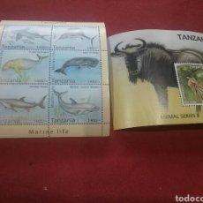 Sellos: SELLOS DE TANZANIA. HB IMPALA Y PECES. TANZANIA HB. 7. FAUNA. NATURALEZA. PECES. ANIMALES. . Lote 91509363