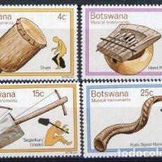 Sellos: BOTSWANA 1976 IVERT 299/302 *** INSTRUMENTOS DE MÚSICA TRADICIONALES. Lote 93282450