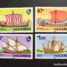 Sellos: GAMBIA GAMBIE 1980 BARCOS BATEAUX YVERT 412 / 415 MNH. Lote 95968931