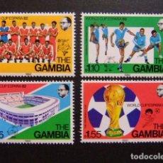 Sellos: GAMBIA GAMBIE 1982 COUPE DU MONDE DE FOOTBALL ESPAÑA 82 YVERT 442/ 445 ** MNH. Lote 95969235