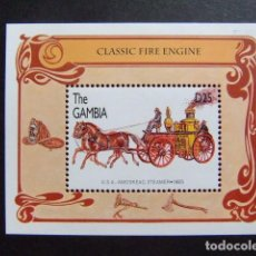 Sellos: GAMBIA GAMBIE 1996 VOITURE DE POMPIERS YVERT BLOC 280 ** MNH. Lote 95969635