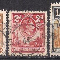 Sellos: ZAMBIA, RHODESIA NORTE 1938 - USADO. Lote 100517171