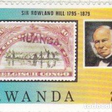 Sellos: 1979 - RWANDA - CENTENARIO DE LA MUERTE DE SIR ROWLAND HILL - YVERT 903. Lote 100528715