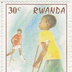 Sellos: 1981 - RWANDA - AÑO INTERNACIONAL DEL MINUSVALIDO. Lote 100624559
