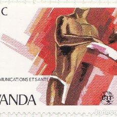Sellos: 1981 - RWANDA - TELECOMUNICACIONES Y SALUD - UIT - YVERT 1008. Lote 100624787