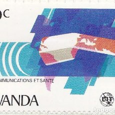 Sellos: 1981 - RWANDA - TELECOMUNICACIONES Y SALUD - UIT - YVERT 1009. Lote 100624839